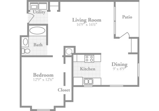 1 Bedroom Floor Plans | Crowne on Tenth: Stylish Apartments in ...